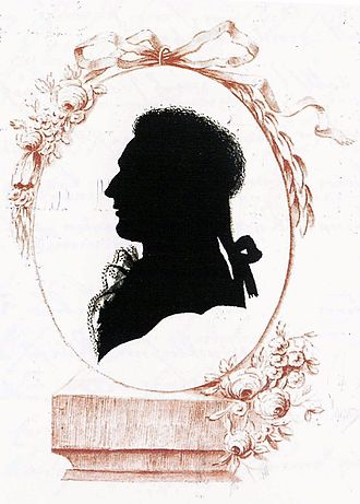 Silhouette - A traditional silhouette portrait of the late 18th century