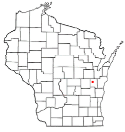 Location of Sherwood, Wisconsin
