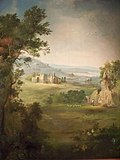 Duncanson landscape mural on the walls of the house