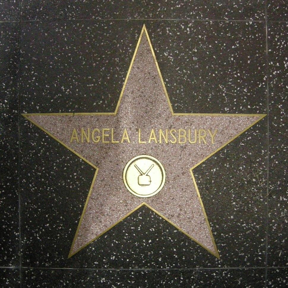 Walk of fame, angela lansbury