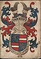Wapen van Engelbrecht II van Nassau - Coat of arms of Engelbrecht II of Nassau - Wapenboek Nassau-Vianden - KB 1900 A 016, folium 02r.jpg