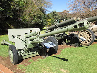 76 mm divisional gun M1942 (ZiS-3) - ZiS-3 displayed at the South African National Museum of Military History, Johannesburg.