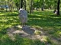 Warszawa-Open air sculpture in Przy Bażantarni Park.jpg