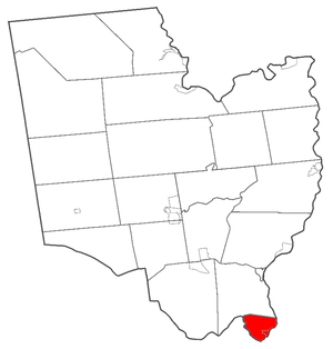 Waterford, New York - Saratoga County, New York. Town of Waterford highlighted in red