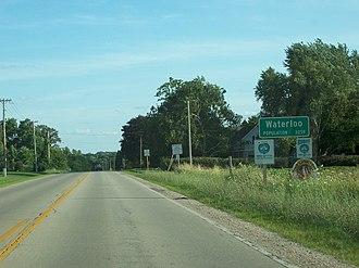Waterloo, Wisconsin - Image: Waterloo Wisconsin DOT Sign