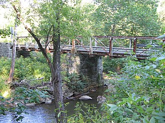 National Register of Historic Places listings in Beaver County, Pennsylvania - Image: Watts Mill Bridge 1