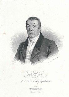 Joseph Weigl; Lithographie von Joseph Kriehuber, 1829 (Quelle: Wikimedia)