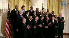 Պատկեր:Welcoming The Lakers To The White House (1-25-10) Barack Obama.ogv