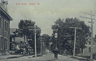 Dixfield, Maine - Weld Street in 1911