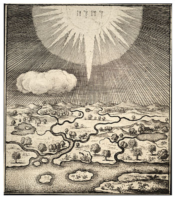 Wenceslas Hollar - Creation of the earth (State 1)