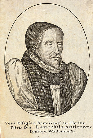 Lancelot Andrewes - Portrait of Bishop Andrewes by Hollar