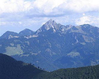 Wendelstein (mountain) - Image: Wendelstein von Westen 1