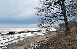 Erie County, New York - View of Wendt Beach in March 2007.