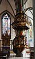 Werl, denkmalgeschützte Propsteikirche, Blick auf die Kanzel.JPG