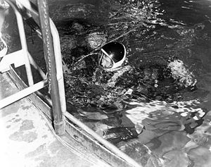 Wernher von Braun in the Neutral Buoyancy Simulator.jpg
