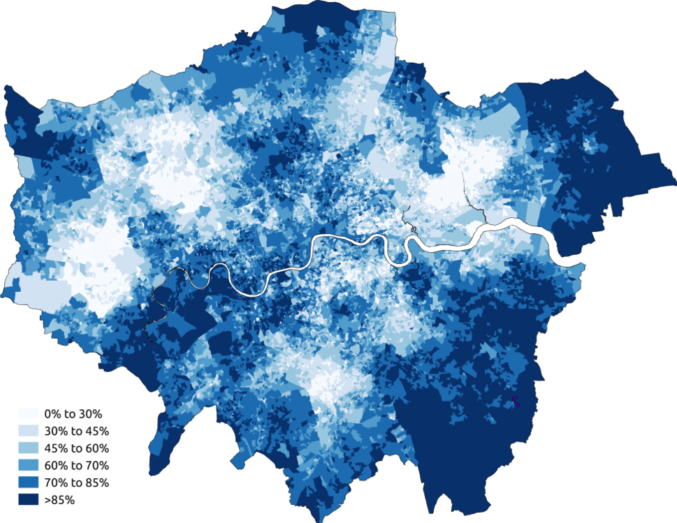 White Greater London 2011 census