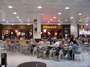 Nando's - Nando's Restaurant at the White Rose Centre in Leeds, West Yorkshire.