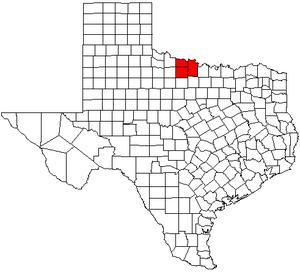 Wichita Falls metropolitan area - Map of Texas highlighting the Wichita Falls metropolitan area.