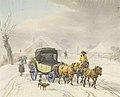 Wihelm von Kobell Postkutsche im Winter ca. 1798.jpg