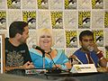 Wil Wheaton, Robin Thorsen & Sandeep Parikh (3770311613).jpg