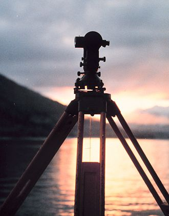 Ethiopia – United States Mapping Mission - Wild T-2 Theodolite in the Sunset