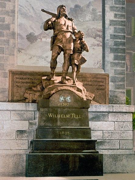 Bild:Wilhelm Tell Denkmal Altdorf um 1900.jpeg