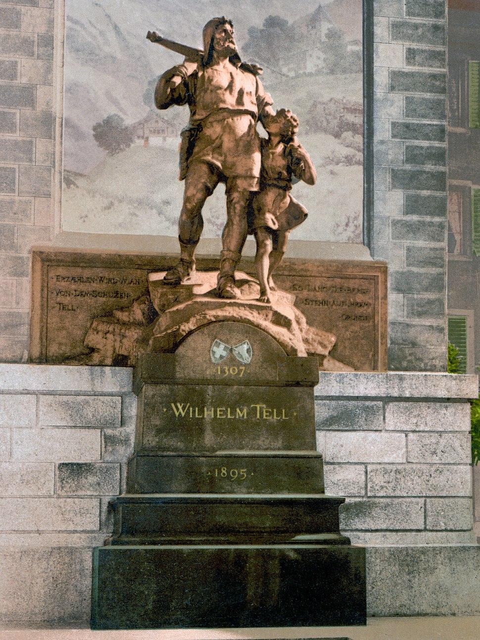 Wilhelm Tell Denkmal Altdorf um 1900.jpeg