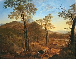 Italianate Landscape with Cowherd