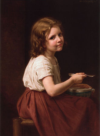 Soup - Soup (William-Adolphe Bouguereau, 1865)