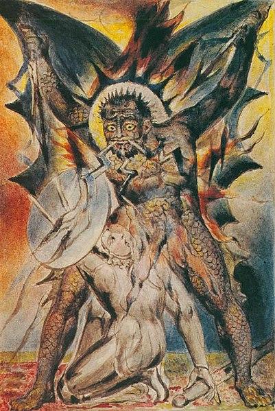 File:William Blake - John Bunyan Plate 20 The Christian Fights Apollyon.jpg