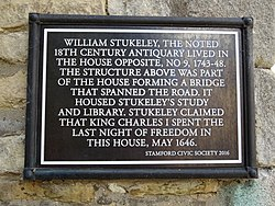 William stukeley the noted 18th century antiquary lived in the house opposite (stamford civic society)