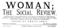 Woman-The Social Review edited by Amelia Lewis.png
