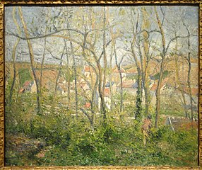 View of l'Hermitage through Trees, Pontoise