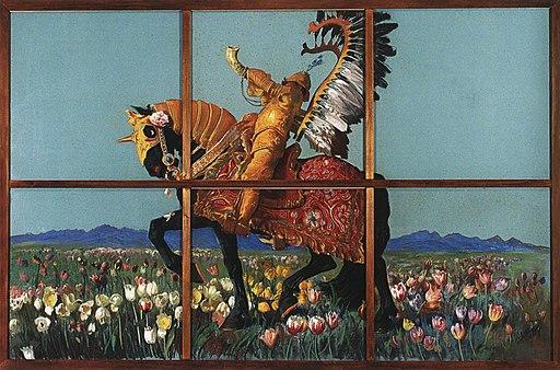 Wyczółkowski-Rycerz wśród kwiatów