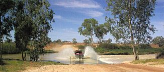 Cooper Creek bei Innamincka in der Strzelecki-Wüste in South Australia