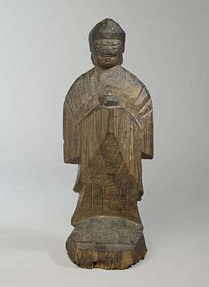 Bhaisajyaguru - Yakushi (Bhaishajaguru, The Buddha of Healing) by Enkū (1628-95). Brooklyn Museum.
