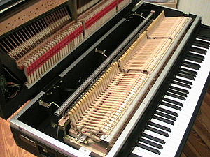 Electric grand piano - Inside view of a Yamaha CP-70
