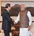 Yang Jiechi, State Councillor of the People's Republic of China and Special Representative of China on the Boundary Question, calls on Prime Minister Narendra Modi.jpg