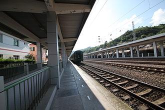 Yangpingguan–Ankang Railway - Yangpingguan Station Platform.