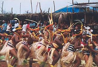 Yapese people - Yapese men in traditional dress celebrating Yap Day