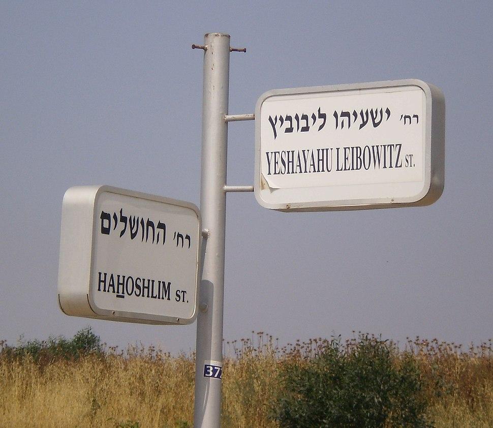 Yeshayahu Leibowitz street, Herzliya