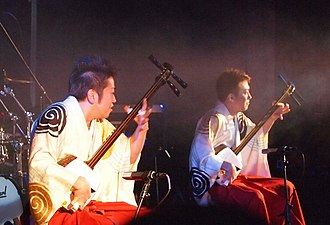 Tsugaru-jamisen - The Yoshida Brothers performing in concert at Webster Hall in November 2012