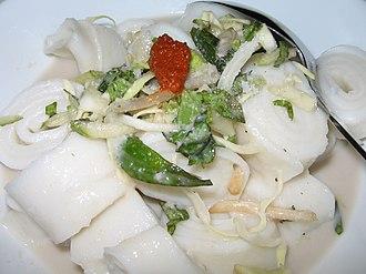 Laksa - Laksam is a popular dish in Kelantan and Terengganu