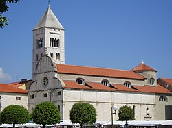 St. Mary's Church, located in the old city across St. Donatus' Church.