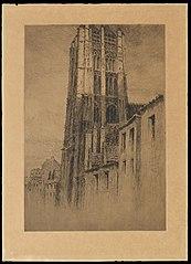 Zicht op de Sint-Jacobstoren