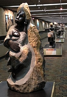 zimbabwe sculpture a tradition in stone at atlanta airport between concourses t and a