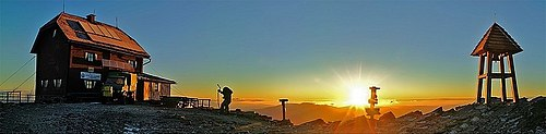 sunrise at the top of Zirbitzkogel