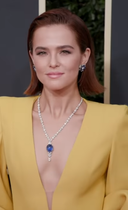 Zoey Deutch at Golden Globes Red Carpet 2020.png