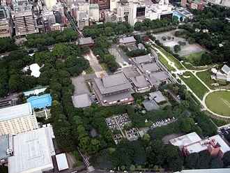Zōjō-ji - Aerial view of Zojoji as seen from Tokyo Tower