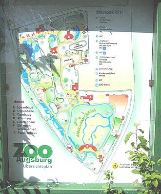 Augsburg Zoo - Image: Zoo Augsburg Infotafel